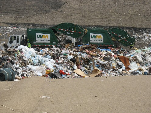 Unsightly trash is dumped into landfills, where it is buried