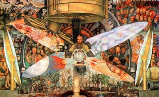 I paint what i see a ballad of artistic integrity by e b for Diego rivera rockefeller center mural