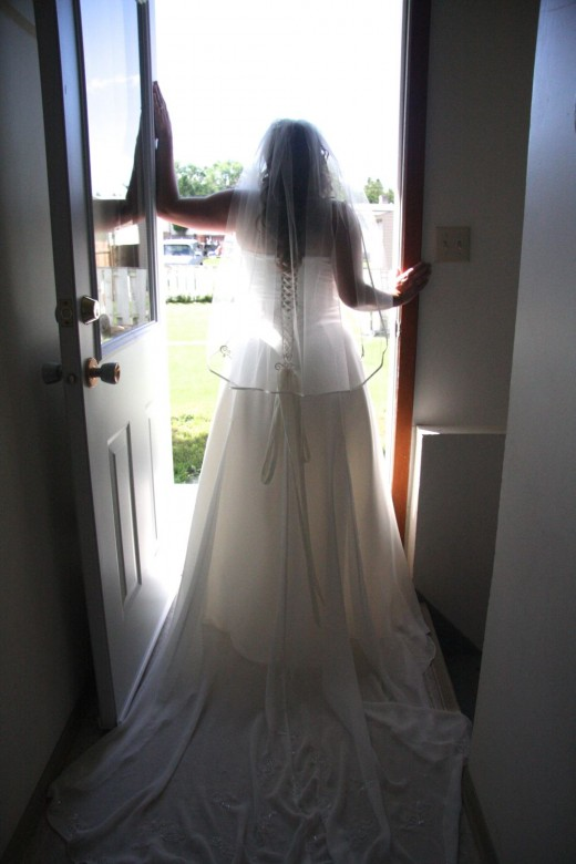 My daughter on her wedding day