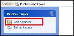 Adding a Network printer.