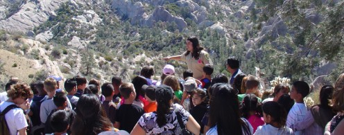 School tour of the Devil's Punchbowl. The park also offers geologic tours for older students and nighttime tours of the Punchbowl.