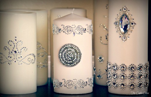 Simple candle with some bling make your wedding have a special glow. Use your imagination and create your own look