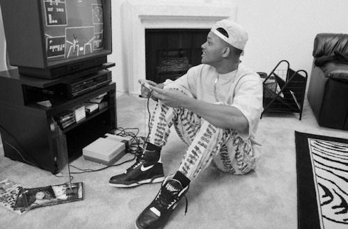 Will Smith Playing Video Games.