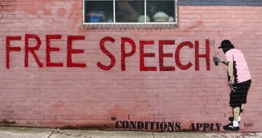 "Free Speech ""Conditions Apply"""