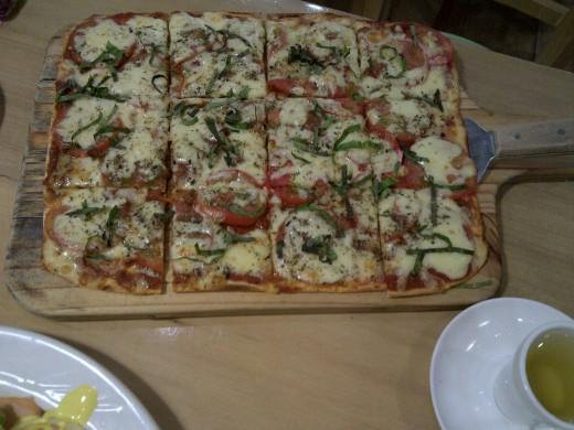 A pizza as an appetizer!