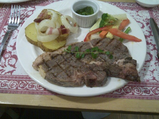 A lamb chop to fill your belly