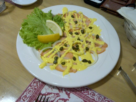 Salmon with dill sauce to get you started,