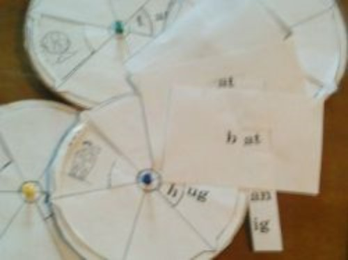 Teaching word families with spinners