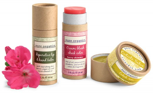 Biodegradable chipboard cosmetic tube packaging
