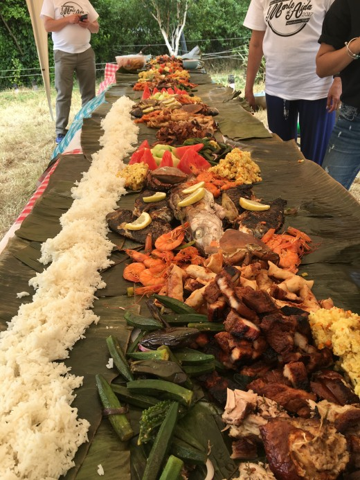 Food items vary where you do the boodle fight. You make do of what is available in the grocery store.