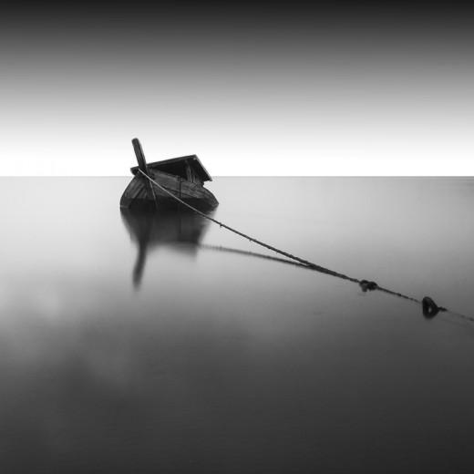 A Sunken Ship Underwater