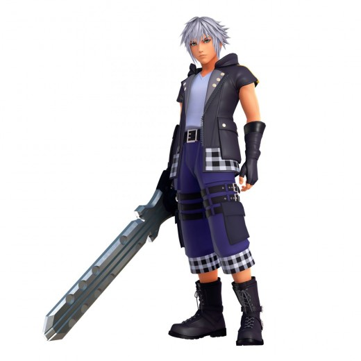 Riku with his new outfit and keyblade.