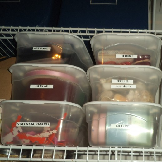 It's not enough to stash supplies in bins and containers. Know what is in there by labeling them clearly.