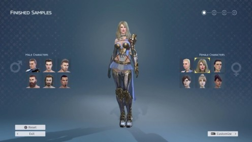 You can customize your video game character in Skyforge.