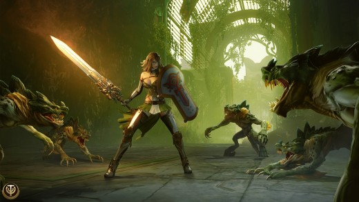You will battle different type creatures in Skyforge.