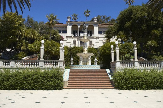 Hearst Castle in California, is a prime example of embarrassing amounts of  wealth