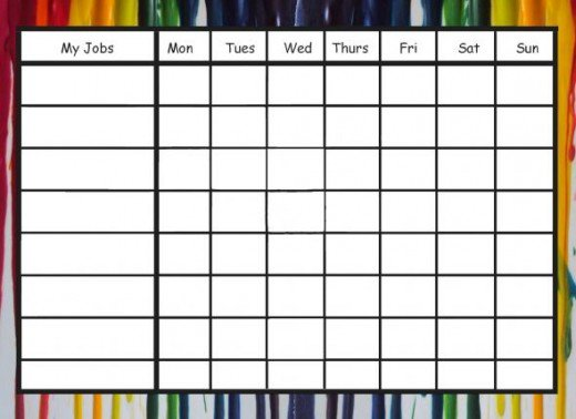 photograph regarding Printable Job Chart named Free of charge Printable Chore Charts That Train Duty