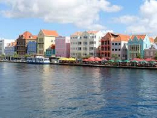 One of Curacao's scenic harbours.