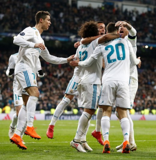 Madrid celebrate another goal