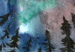 How to Paint the Northern Lights With Watercolors