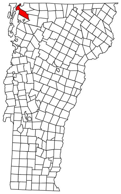 Map location of Swanton, Vermont