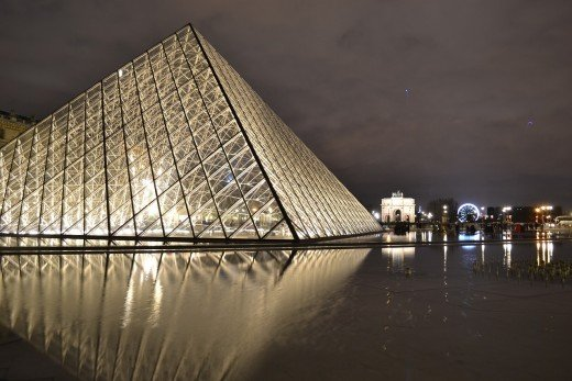 Visit the glass pyramid, The Louvre while in Paris