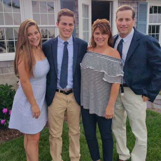 Our family  at a wedding of a dear friend July 2017
