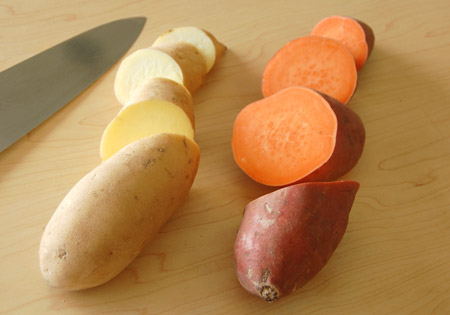 different types of sweet potatoes. All are nutritious!
