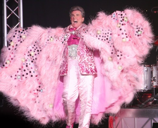 Liberace was born Władziu Valentino Liberace, a child prodigy with a career that spanned several decades.  He was known as much for his outrageous costumes and flamboyant lifestyle as his musical abilities on the piano. He died in 1987.