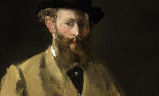 "This is a rare self portrait of Edouard Manet, a French painter and printmaker.  Throughout history, if you owned one of his paintings, you simply owned ""a Manet"".   Manet, Monet, and Renoir painted together in 1874."