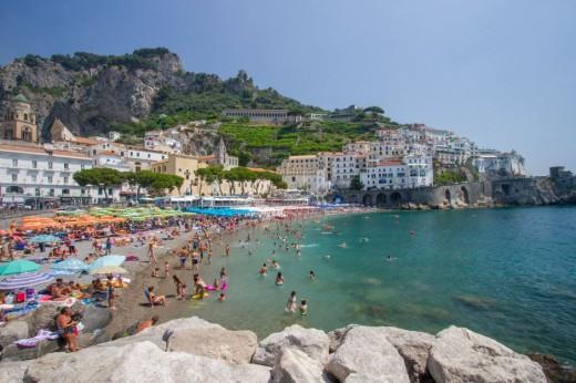 Amalfi's Marina Grande Beach
