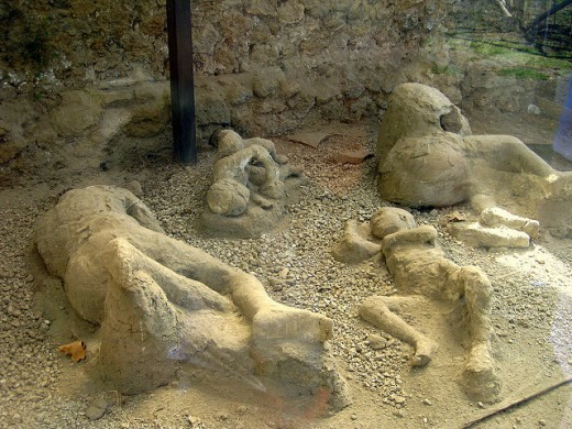 The petrified bodies of Pompeii are surly reminders of the tragedy that occurred two thousand years ago.