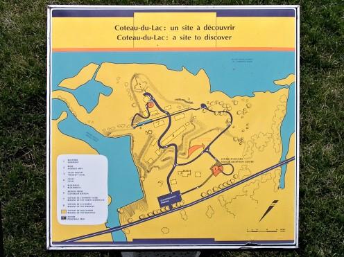 Coteau-du-Lac (Québec) - Parks Canada map