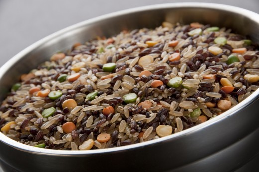 Beans and grains in this Aztec blend.