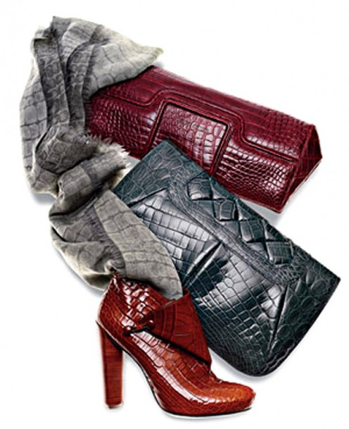 Get into the faux reptile trend with handbags, shoes and a host of other accessories.