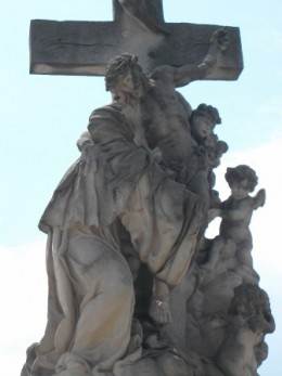 Religious Statue on Charles Bridge, Prague