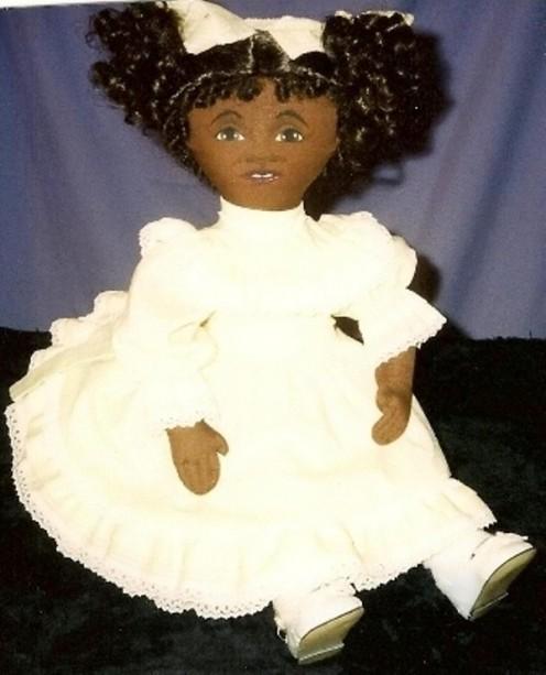 Lucilda Evans human realism art doll design in cloth.