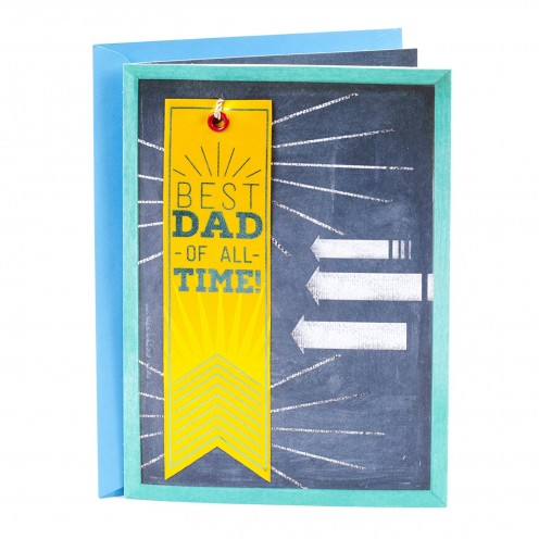 Best dad of all time Hallmark Father'd Day card