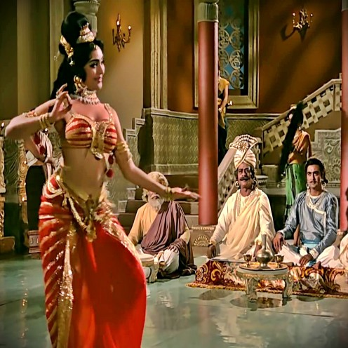 One of the best ever song-dances of Bollywood in Raag Bhupali, featuring Vyjayanthimala, one of the best dancers in the history of Bollywood.