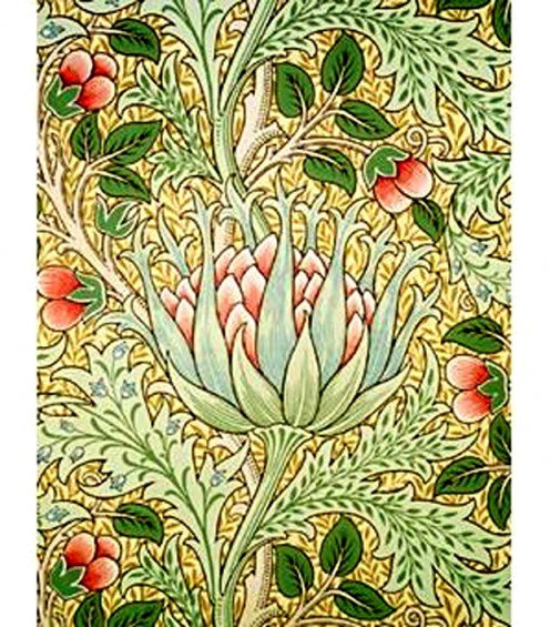 This William Morris wallpaper is the perfect color inspiration for an Arts and Crafts room.