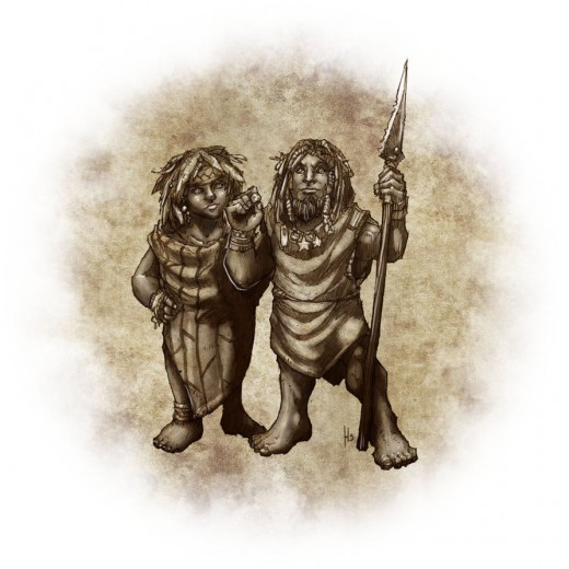 A depiction of the Menehune, by Deviantart user Butterfrog