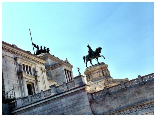 "The Altare della Patria ([alˈtaːre della ˈpaːtrja]; English: ""Altar of the Fatherland""), also known as the Monumento Nazionale a Vittorio Emanuele II(""National Monument to Victor Emmanuel II"") or Il Vittoriano, is a monument built in honor of Victor"