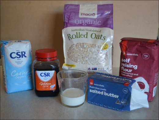 Ingredients for Golden Oats Biscuits