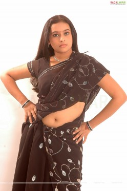 Young and cute SreeDivya Exposing in Saree