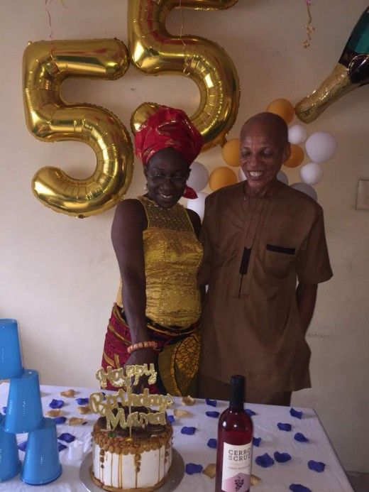 Author and his wife on her 55year birthday on o2/18/2018 after 31 years of marriage.