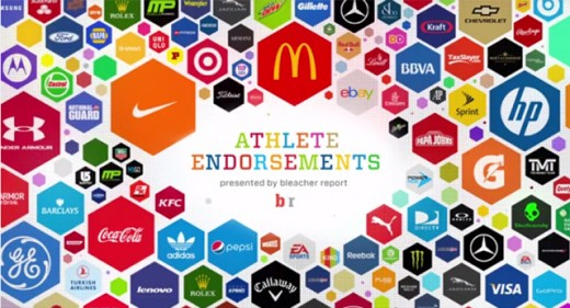 Some of the big time companies that endorse and sponsor athletes.