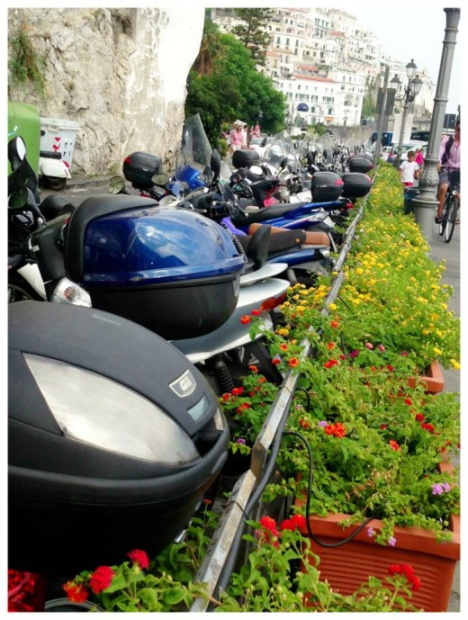 Parking is at a minimum here, most locals prefer to take mopeds to get around.