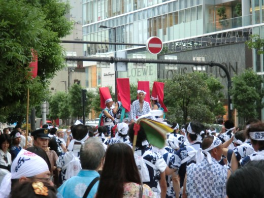 The taiko drum float