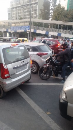At a Traffic Jam