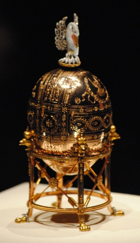 The Pelican Egg, made for Nicholas II of Russia, who presented it to his mother, the Dowager Empress Maria Feodorovna on Easter 1898. Now in the Virginia Museum of Fine Arts